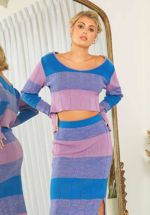 NDS Wide Stripe Knit Crop Top