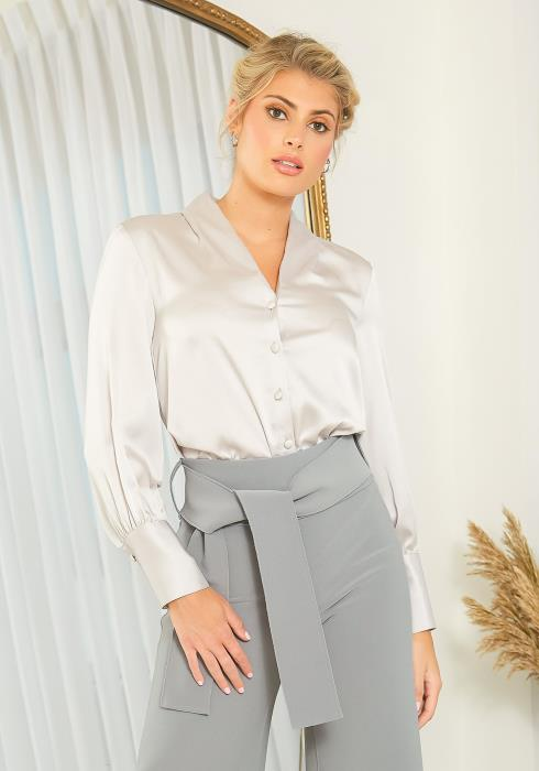 NDS Satin Button Down Blouse