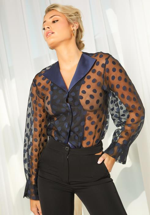 NDS Sheer Polka Dot Blouse