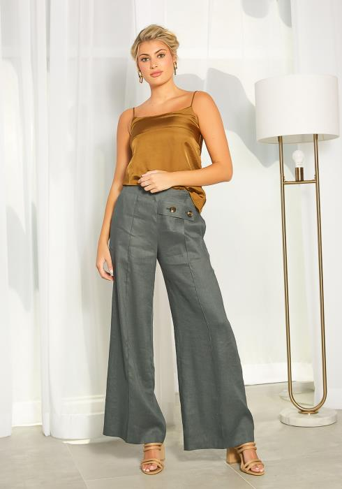 NDS Linen Wide Leg Pants