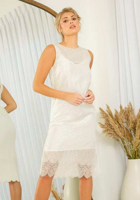 NDS Double Layer Lace Midi Dress