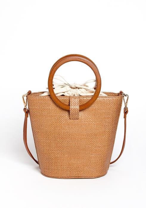 Hico Tan Straw Hand Bag