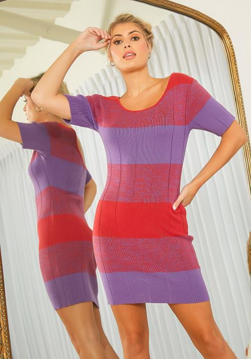 New Designers Space Wide Stripe Knit Dress