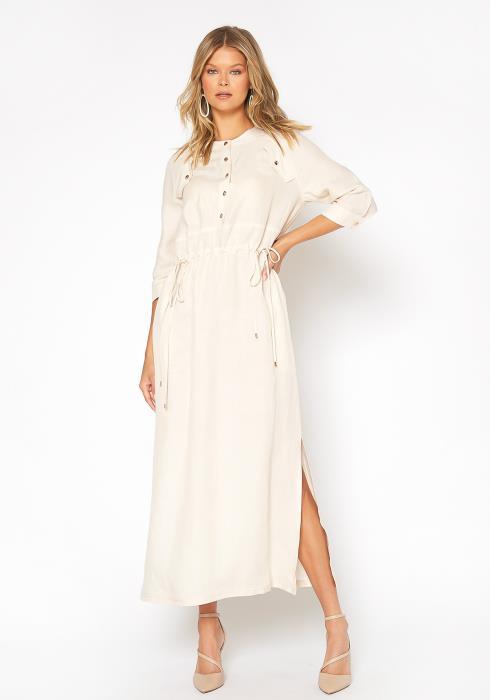 NDS Shirring Button Up Dress