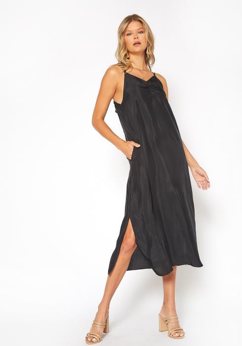 NDS Ruche Front Midi Slip Dress