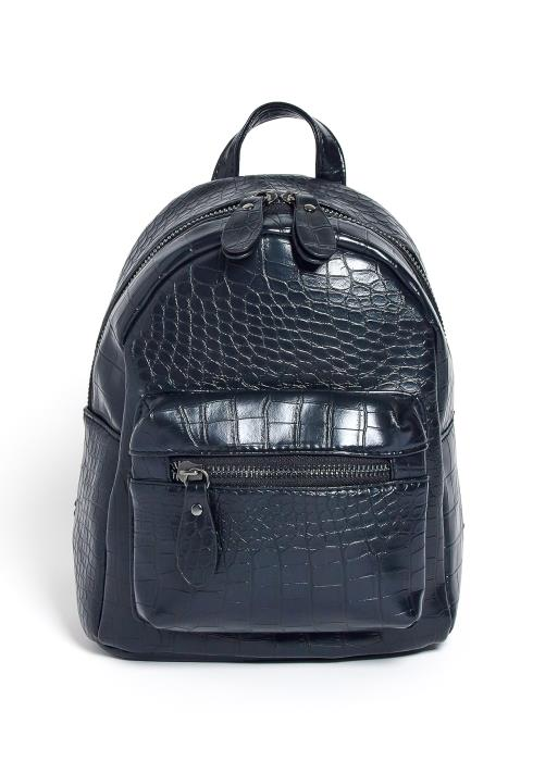 Triana Croc Embossed Mini Backpack