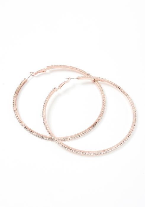 Diana Silver Crystal Large Hoop Earrings