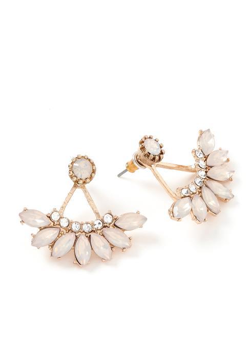 Dahlia Petal Edged Stud Earrings