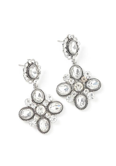 Emersyn Silver Jewel Drop Earrings