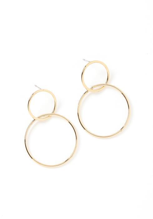 Gemma Circle Drop Earrings