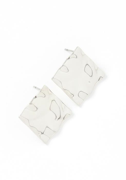 Khloe Silver Plate Stud Earrings