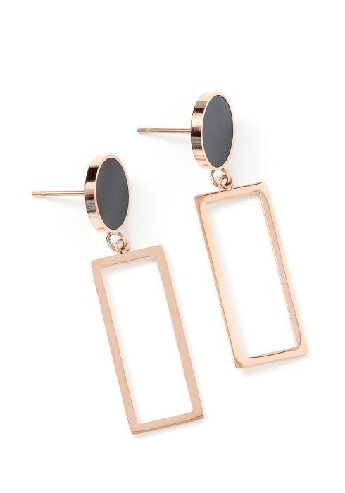 Murietta Rectangle Drop Stud Earrings