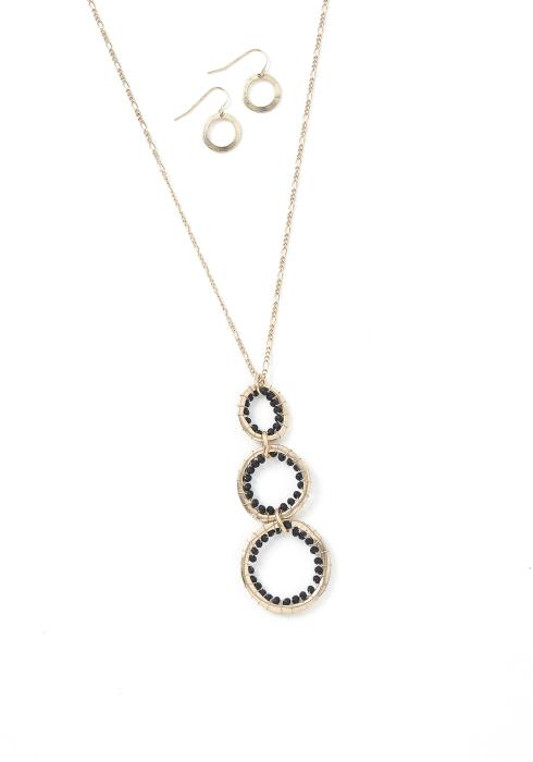 Mallory Ring Necklace & Earrings Set