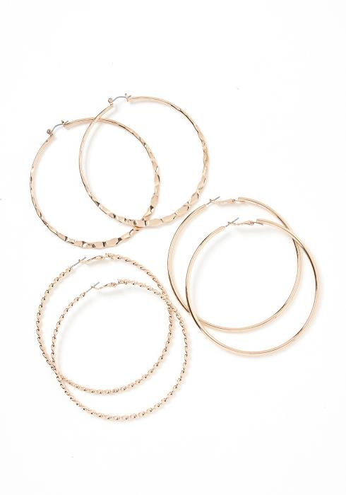Valery Triple Hoop Earring Set