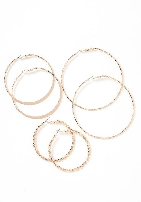 Victoria Triple Hoop Earring Set