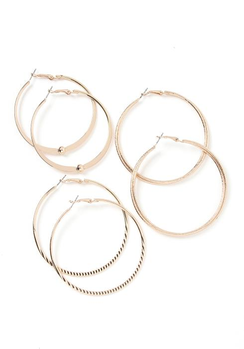 Elizabeth Triple Hoop Earring Set