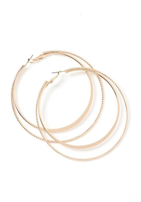 Alina Double Insert Hoop Earrings