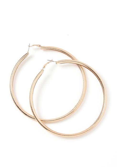 Ryleigh Basic Golden Hoop Earrings