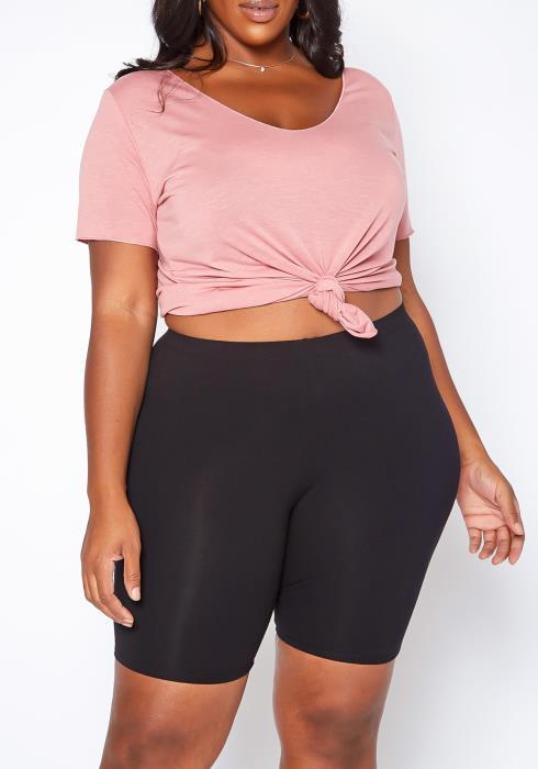 Asoph Plus Size Everyday Basic Biker Shorts