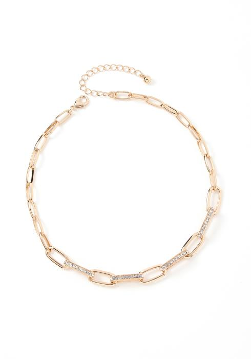 Kendall Shimmer Chain Link Choker Necklace