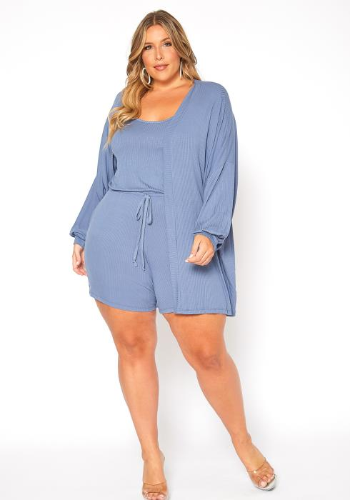 Asoph Plus Size Lightweight Two Piece Lounging Set