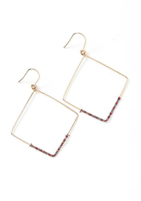 Plain Jane Square Hoop Earrings
