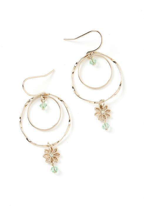 Daisy Charm Mini Hoop Earrings