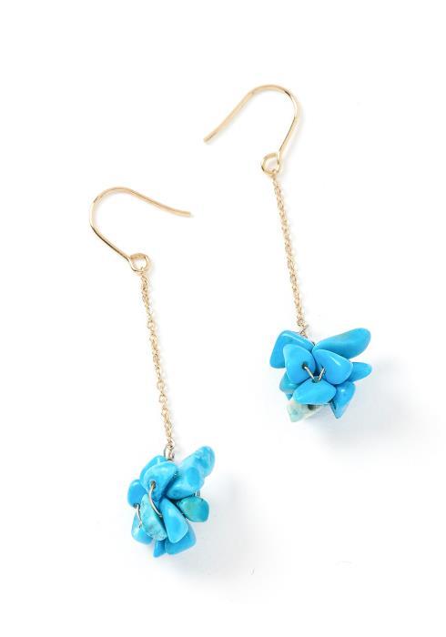 Clarissa Turquoise Pebble Drop Earrings