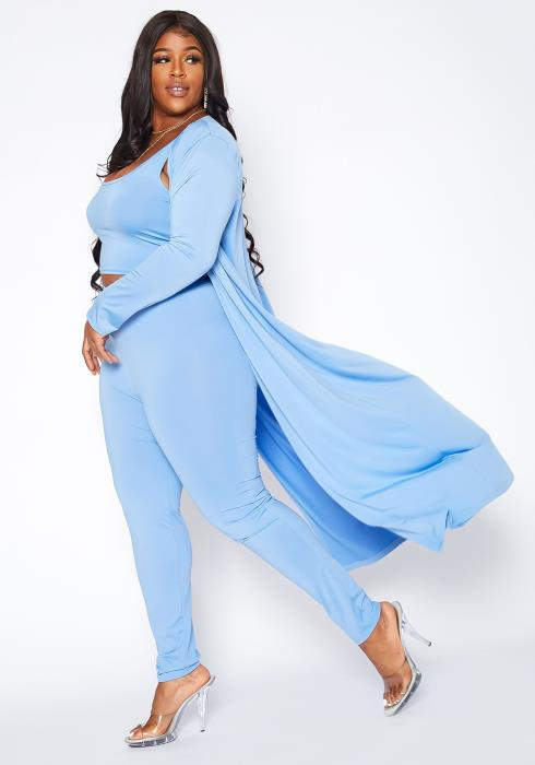 Asoph Plus Size On The Go Three Piece Matching Set