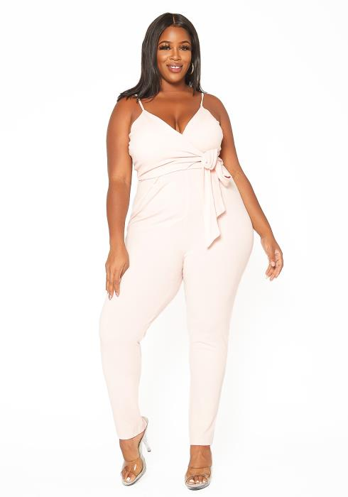 Asoph Plus Size Dusty Pink Party Jumpsuit