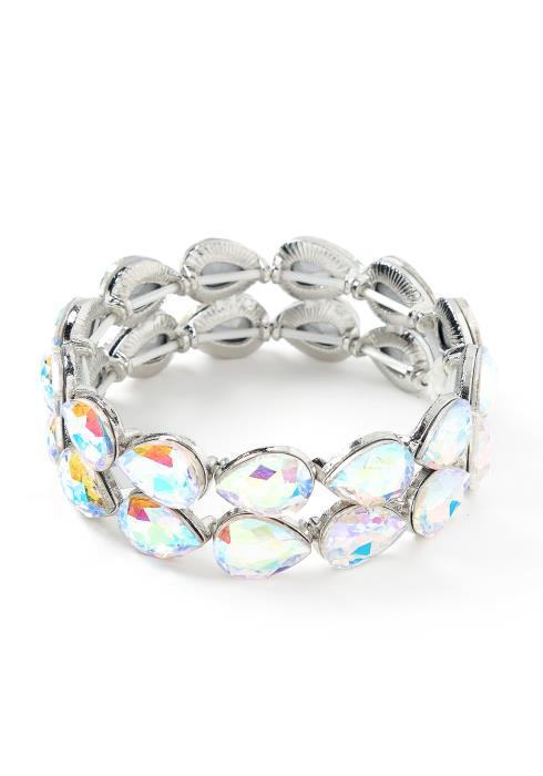 Ariel Holographic Gem Bracelet Cuff