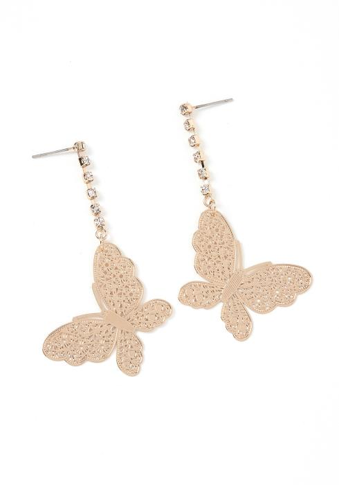 Belle Butterfly Drop Earrings