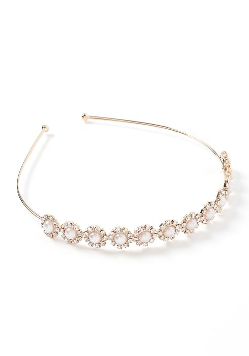Clair Golden Pearl & Diamond Detailed Headband