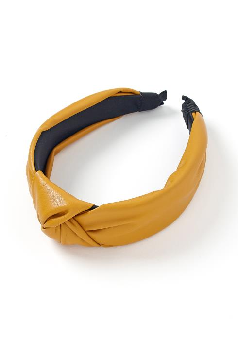 Zara PU Leather Twist Hem Headband