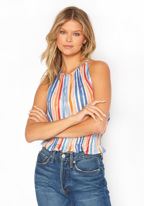 BTFL-life Multi Stripe Cami Top