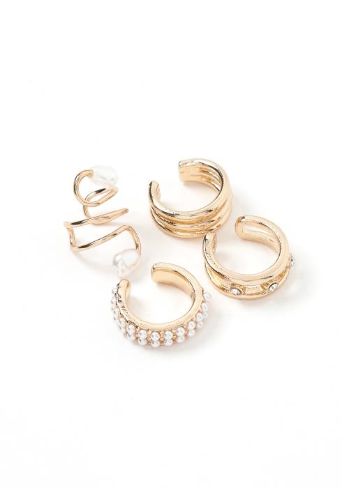 Vidia Gold Ear Cuff Set