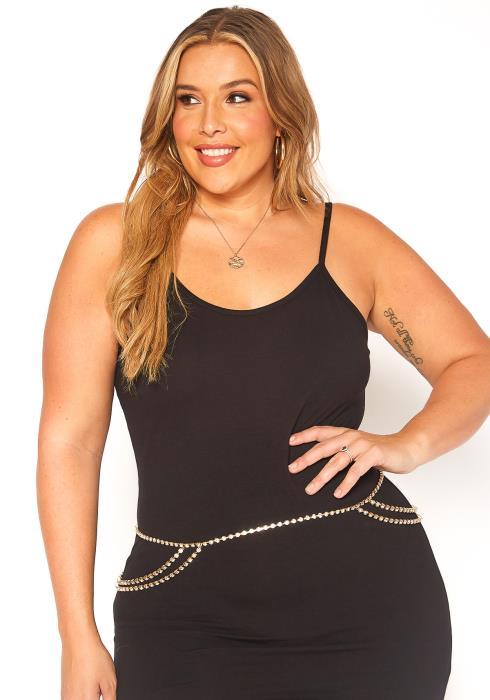 Alia Diamond Waistlet Chain Belt