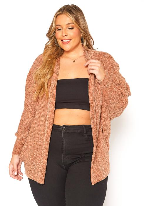 Asoph Plus Size Softest Open Front Cardigan