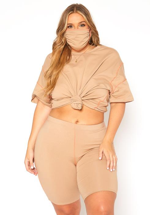 Asoph Plus Size Matching Three Piece Set