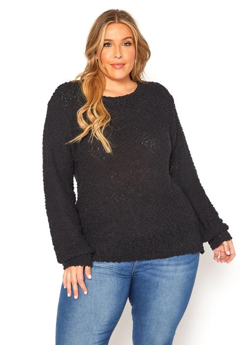 Asoph Plus Size Popcorn Knit Sweater