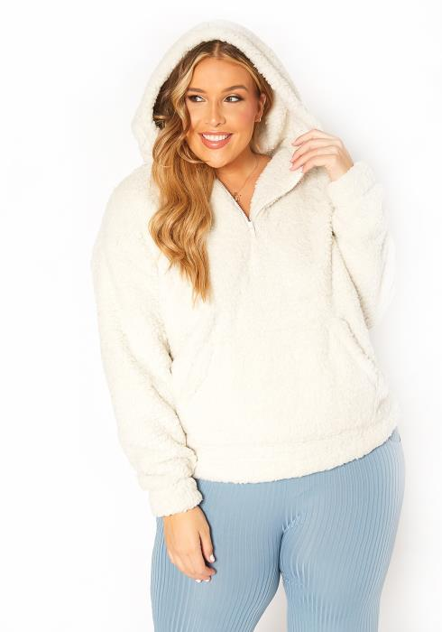 Asoph Plus Size Cozy Snow Sherpa Hoodie