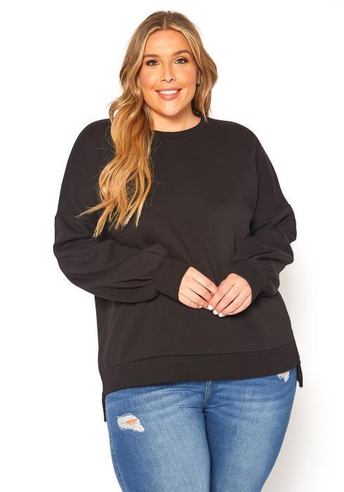 Asoph Plus Size Classic Crew Neck Sweater