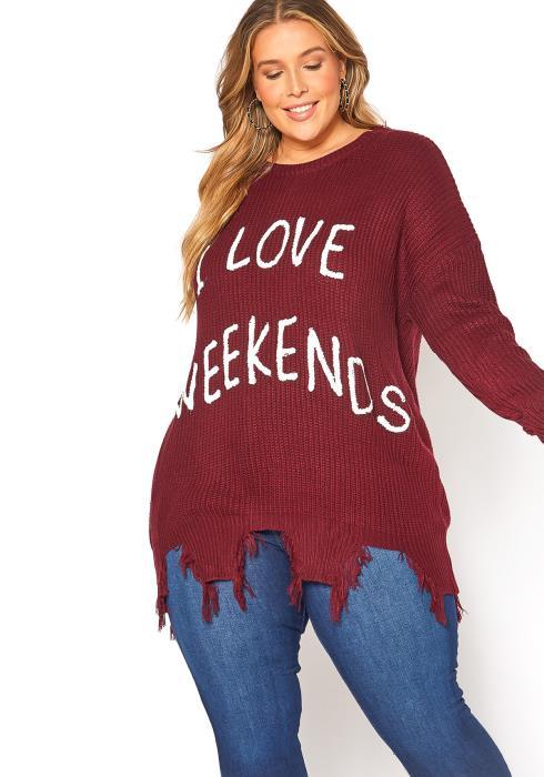 Asoph Plus Size Weekend Sweater