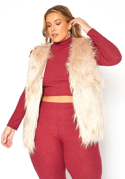 Asoph Plus Size Cozy Furry Vest