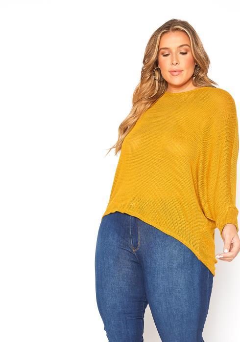 Asoph Plus Size Hi Lo Sweater Top