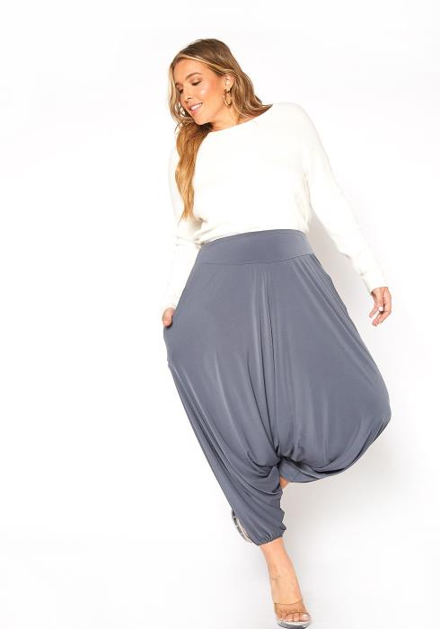 Asoph Plus Size Casual High Waist Harem Pants