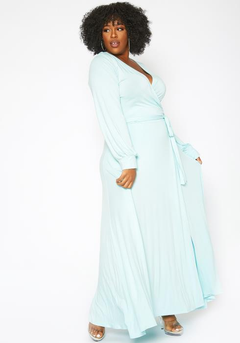 Asoph Plus Size Sweetest Bliss Fit & Flare Maxi Dress