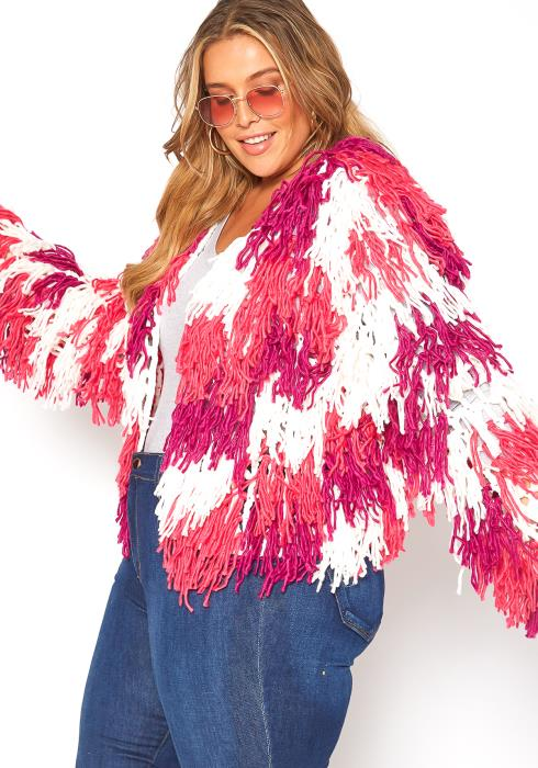 Asoph Plus Size Splash Of Color Coat