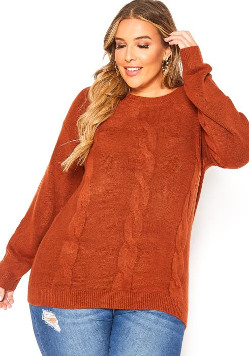 Asoph Plus Size To Be Warm Cable Knit Sweater
