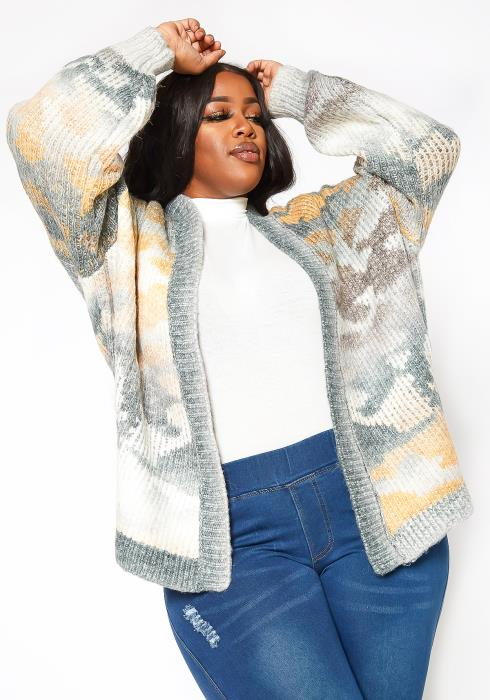 Asoph Plus Size Warm Knit Cardigan
